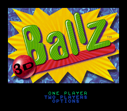 Ballz 3D title screenshot