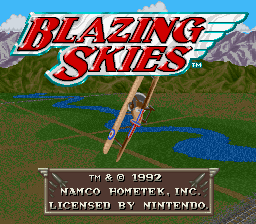 Blazing Skies title screenshot