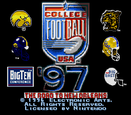 College Football USA '97 - The Road to New Orleans title screenshot