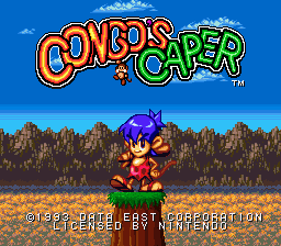 Congo's Caper title screenshot