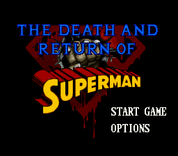 Death and Return of Superman, The title screenshot