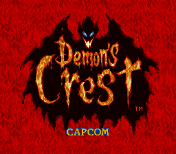 Demon's Crest title screenshot