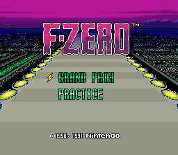 F-Zero title screenshot