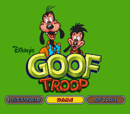 Goof Troop title screenshot