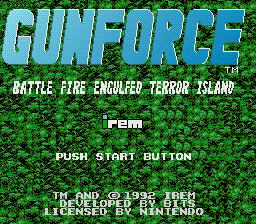 GunForce title screenshot