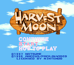 Harvest Moon title screenshot