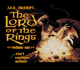 J.R.R. Tolkien's The Lord of the Rings, Vol. I title screenshot
