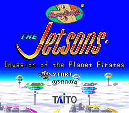 Jetsons, The - Invasion of the Planet Pirates title screenshot