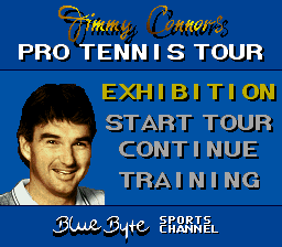 Jimmy Connors Pro Tennis Tour title screenshot