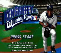 Ken Griffey Jr.'s Winning Run title screenshot