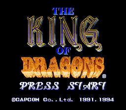 King of Dragons, The title screenshot