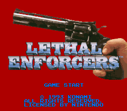 Lethal Enforcers title screenshot