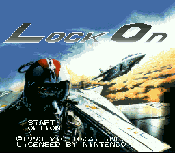Lock On title screenshot