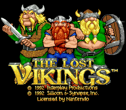 Lost Vikings, The title screenshot
