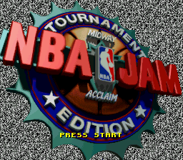 NBA Jam - Tournament Edition title screenshot