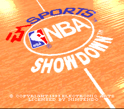 NBA Showdown title screenshot