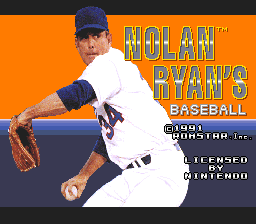 Nolan Ryan's Baseball title screenshot