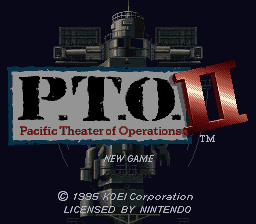 P.T.O. II - Pacific Theater of Operations title screenshot