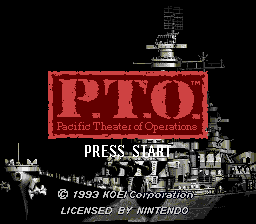 P.T.O. - Pacific Theater of Operations title screenshot