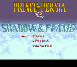 Prince of Persia 2 - The Shadow & the Flame title screenshot