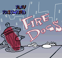 Ren & Stimpy Show, The - Fire Dogs title screenshot