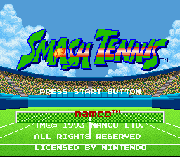 Smash Tennis title screenshot