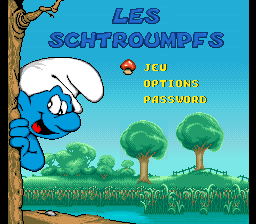 Smurfs, The title screenshot