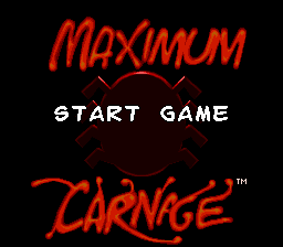 Spider-Man & Venom - Maximum Carnage title screenshot
