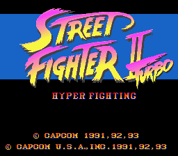 Street Fighter II Turbo - Hyper Fighting title screenshot