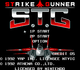 Strike Gunner S.T.G title screenshot