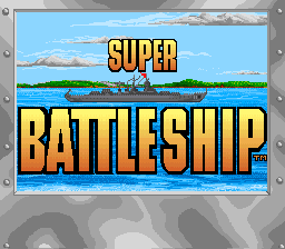 Super Battleship title screenshot