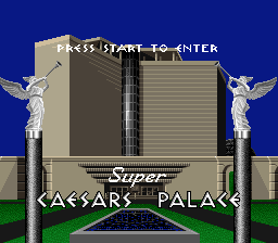 Super Caesars Palace title screenshot