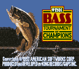 TNN Bass Tournament of Champions title screenshot