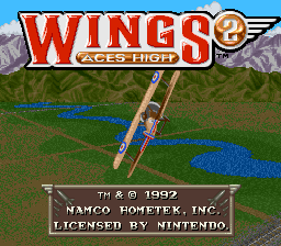 Wings 2 - Aces High title screenshot