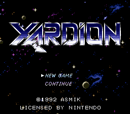 Xardion title screenshot
