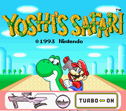 Yoshi's Safari title screenshot