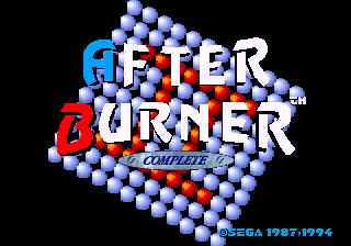 After Burner Complete ~ After Burner title screenshot