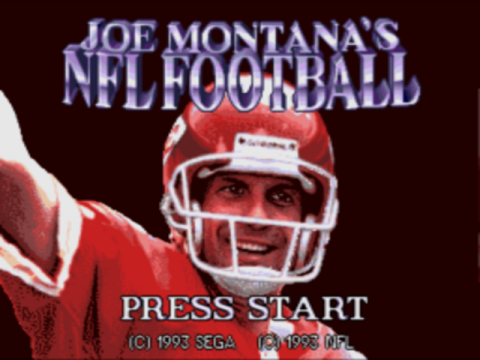 Joe Montana's NFL Football title screenshot