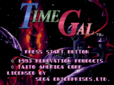 Time Gal title screenshot