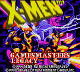 X-Men - Gamemaster's Legacy title screenshot
