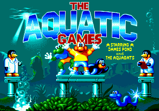 Aquatic Games Starring James Pond and the Aquabats, The title screenshot