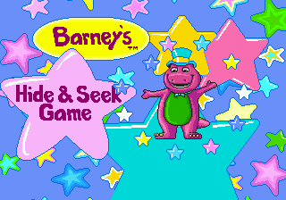 Barney's Hide & Seek Game title screenshot