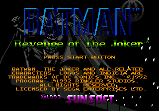 Batman - Revenge of the Joker title screenshot