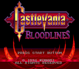 Castlevania - Bloodlines title screenshot