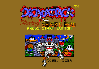 DEcapAttack title screenshot
