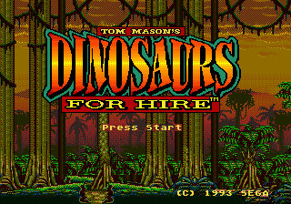 Dinosaurs for Hire title screenshot