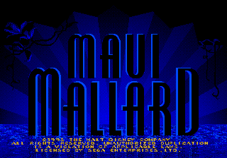 Donald in Maui Mallard title screenshot
