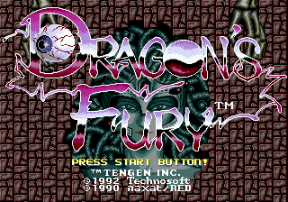 Dragon's Fury title screenshot