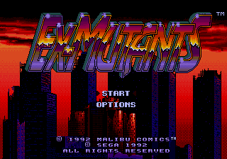 Ex-Mutants title screenshot