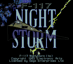 F-117 Night Storm title screenshot